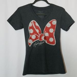 Minnie Mouse Disney Sparkly Shirt Size XS